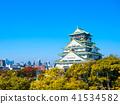 大阪城堡在秋天 41534582