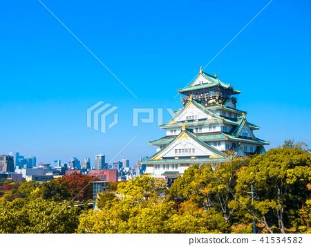 가을의 오사카 성 41534582