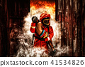 fireman save a child in arms from fire incident 41534826