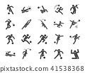 Soccer in actions icon set 41538368