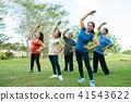 Senior people exercising 41543622