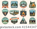 Set of Summer camp badges. Vector. Concept for shirt or logo, print, stamp, patch or tee. 41544347