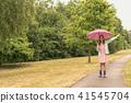 girl, umbrella, rain 41545704