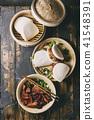 Gua bao buns with pork 41548391