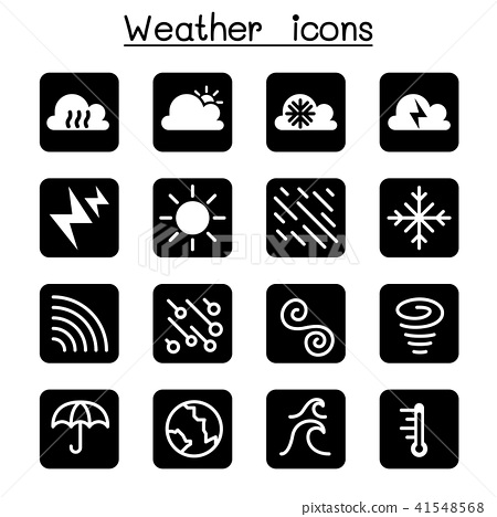 Weather, meteorology & Climate icon set 41548568