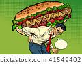people, man, bread 41549402