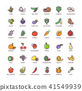 vegetable, vector, icon 41549939