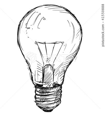 Vector Sketch Drawing Illustration of Light bulb 41550888