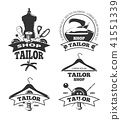 Vintage tailor vector labels, badges, emblems 41551339
