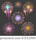 firework, vector, night 41552094