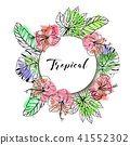 vector, floral, wreath 41552302