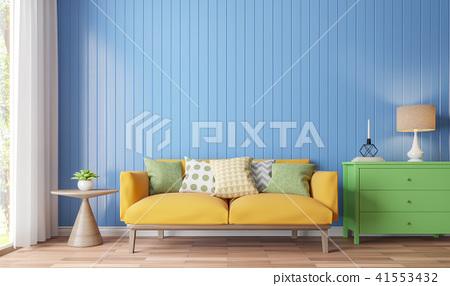 Colorful living room 3d render 41553432