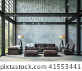 Loft style living room 3d render 41553441