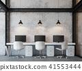 Loft style office 3d render 41553444