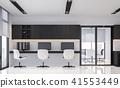 Modern black and white office 3d render 41553449