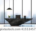 Modern luxury working table 3D render 41553457