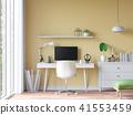Modern vintage working room 3d render 41553459