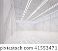 Modern white warehouse interior 3d render 41553471