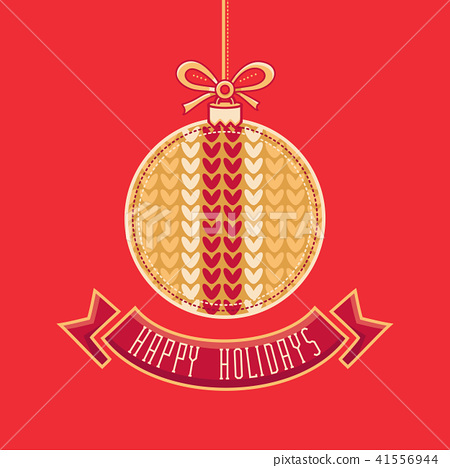 Greeting Card Happy Holidays  Vector. Ball Form 41556944