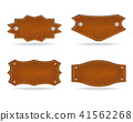 Shapes of leather tag 41562268