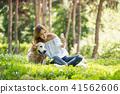 젊은여자, 개, 강아지, 애완동물, 골든 리트리버 41562606