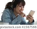 헤드폰 여성 41567566