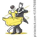 交誼舞圖標 41567688