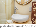 Luxurious bathroom plumbing in hotel room. Bathroom interior elements. 41568112