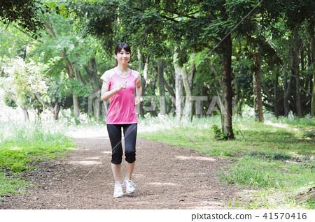 跑步跑步慢跑健身女性運動 41570416