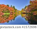 (나가노 현) 雲場 연못의 단풍 연못에 비치는 가을 41572696