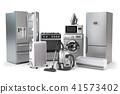 Home appliances. Set of household kitchen technics 41573402