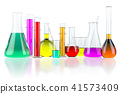 Laboratory glassware test glass flasks and tubes 41573409