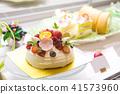 蛋糕店可愛的裝飾蛋糕 41573960