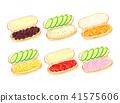 热狗面包 面包 食品 41575606