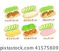 热狗面包 面包 食品 41575609
