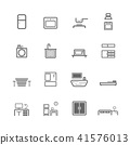 simple household accessories icon set 41576013