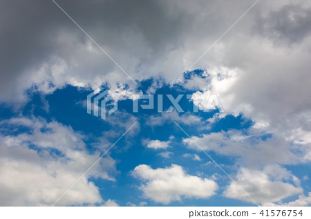 amazing cloud formations on a blue sky 41576754