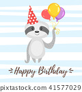 happy, birthday, card 41577029