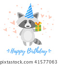 happy, birthday, card 41577063
