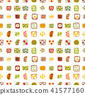 Breakfast toast seamless pattern backgroun slices toasted crust sandwich with butter fried toaster 41577160