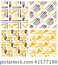 Wind musical instruments tools acoustic musician equipment orchestra seamless pattern background 41577190