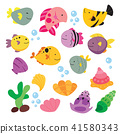 ocean animals collection design 41580343