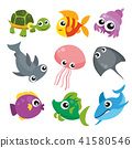 ocean animals collection design 41580546