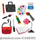 education icon set, stationary 41580565