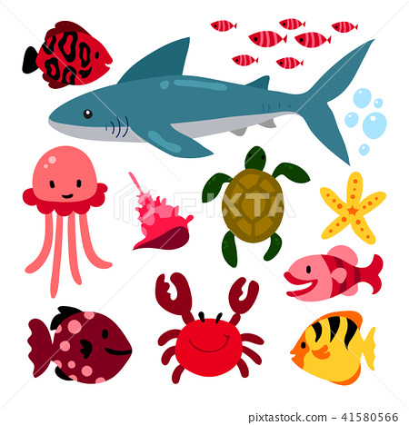 Sea animals collection 41580566