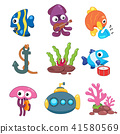 ocean animals collection design 41580569