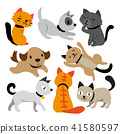 cat and dog character design 41580597