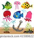 Coloured sealife background 41580622