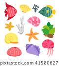 Sea animals collection 41580627