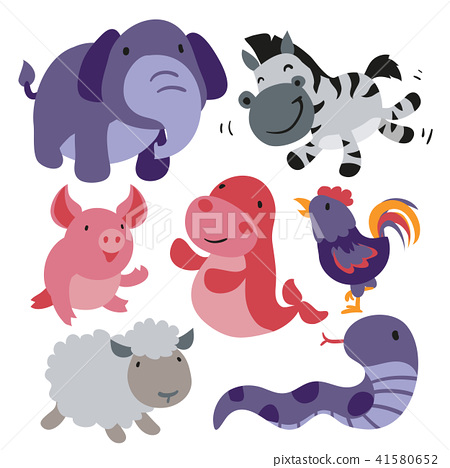 Cute animals collection 41580652